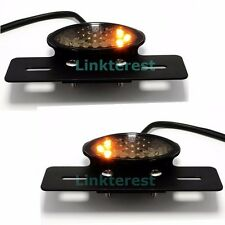 Motorcycle Bike LED Stop Tail Turn Signals Brake License Plate Integrated Lights