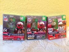 DARRELLE REVIS NEW ENGLAND PATRIOTS OYO 3 MINIFIGURE LOT SUPER BOWL XLIX CHAMPS
