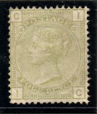 QV 1877  sg 153 plate 15   4d sage green ( I C ) Mounted mint with gum.