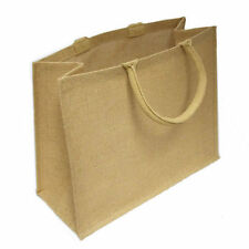 10 x Jute Hessian Large Luxury Plain Shopping Bag Bags Shopper