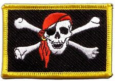 Pirate with bandana Flag EMBROIDERED PATCH 8x6cm Badge