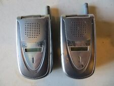LOT OF 2 Sanyo VI 2300 Sprint Cellular Flip Phone Cellphone UNTESTED Free Ship