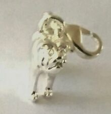 LOVELY LITTLE SILVER PUGG DOG OR BULL DOG 3D CLIP ON CHARM - SILVER PLATE 925