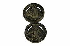 """Norse Foundry RPG D20 Adventure Coins -""""25"""" Gold Piece Set of 10 - Dwarven Style"""