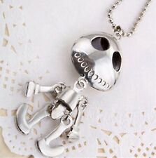 FREE GIFT BAG Skeleton Necklace Chain Punk Gothic Goth Love Skull Jewellery