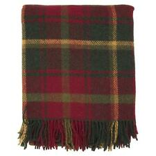 100% Wool Scottish Dark Maple Tartan Knee Rug/Blanket