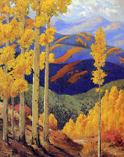 Parsons Sheldon Santa Fe Mountains In October Canvas 16 x 20    #5009