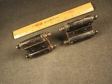 2 Antique Bommer Swinging Door Double Action Acting Spring Loaded Hinges U,S,A,