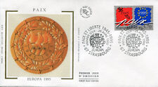 FRANCE FDC - 2942 1 EUROPA PAIX - STRASBOURG 29 Avril 1995 - LUXE sur soie
