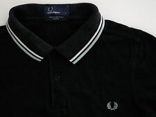 "mens Fred Perry ""slim fit"" twin tipped polo shirt t-shirt M3600 small S"