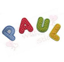 Applikation Bügelbild Aufnäher Name ABC Buchstabe Buchstaben Alphabet Punkte