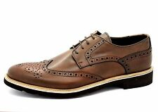 Trussardi Collection Mens EU 45 UK 11 Brown Italian Andria Leather Brogue Shoes