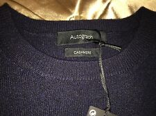 Navy Blue 100% cashmere jumper Size 10 New  With Tags