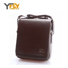 KANGAROO  Brown Leather Satchel Messenger X Body Bag