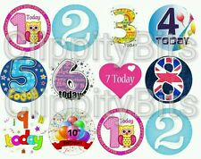 "50 x 1"" Inch Pre Cut Bottle Cap Images Happy Birthday  hair bows clips crafts"