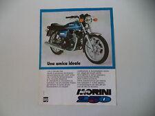 advertising Pubblicità 1977 MOTO MORINI 250