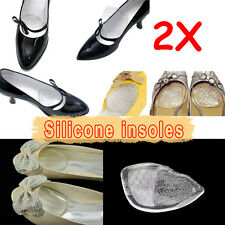 Silicone Gel Elastic Cushion Insoles Protect Comfy Feet Palm Care Shoe Pad Pads