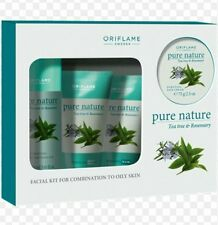 Oriflame Tea Tree and Rosemary Facial Kit for Oily to Combination skin