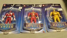 Power Rangers Heroes Mighty Morphin Auto Morphin Red MMPR Zeo Yellow Zeo NEW