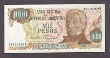 1976 1000 PESOS ARGENTINA CURRENCY AUNC BANKNOTE NOTE MONEY BANK BILL CASH CRISP