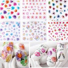 Nail Art Transfer 50 Sheets Stickers Flower 3D Decals Manicure Decoration Tips