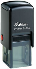 PERSONALISED SHINY S-510 SELF INK RUBBER STAMP 12 x 12 MM Loyalty Stamp