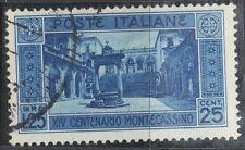 REGNO - NR. 266 - MONTECASSINO - USATO - PERFETTO