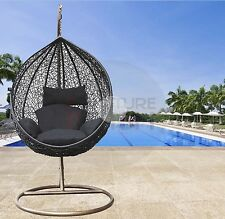 Hanging Egg Chair Rattan Wicker Outdoor Furniture Black Free Pickup Gold Coast