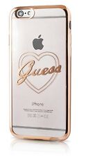 GENUINE GUESS SIGNATURE TPU COLLECTION SILICONE BACK CASE IPHONE 6/6S COVER GOLD