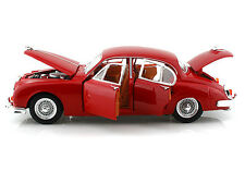 Bburago 1/18 Scale Gold 1959 Jaguar Mark II Red Diecast Car Model 12009