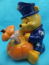 Disney Winnie The Pooh Halloween Magic Cookie Jar With Piglet RARE