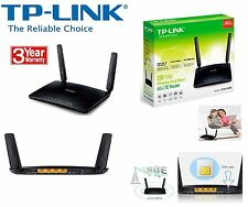 TP-LINK AC750 Wireless Dual Band 4G LTE Router Archer MR200 SIM Free UK Plug
