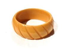 Bijou lucite bracelet jonc cannelé vintage bangle
