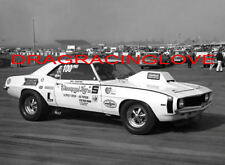 """Bill ""Grumpy"" Jenkins"" 1969 Chevy Camaro Pro Stocker Pits PHOTO!"