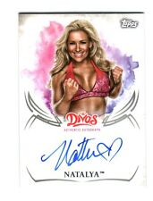 WWE Natalya 2015 Topps Undisputed Divas Authentic On Card Autograph FD