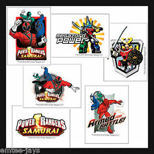 POWER RANGERS TATTOOS x 12 pieces BIRTHDAY SUPPLIES, Loot Bag, Party Favours