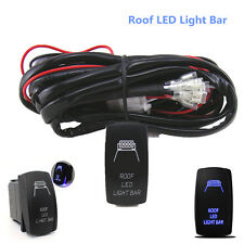 12V ON/OFF Switch+ Control Wiring Harness Kit Relay for Roof LED Light Bar 40 Am