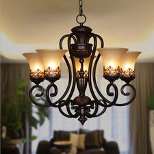 Vintage Black 5 Candle Ceiling Lamp Lighting Fixture Chandelier Pendant Lighting