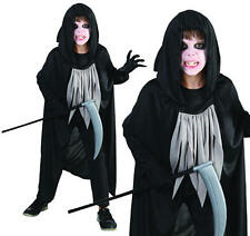 Childrens Grim Reaper Fancy Dress Costume Kids Ghost Halloween Outfit L