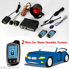 2Way Car Alarm Security System With LCD Super Long Distance Control Anti-theft