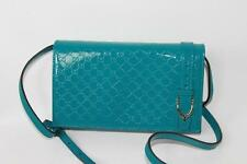 AUTH Gucci Women GG Guccissma Patent Leather Wallet with Chain Cross Body