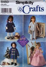 "Simplicity 8460 18"" Girl Doll Clothes Pattern Magic Attic Club  Dress Pajamas"