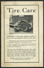 1928 Rubber Association America TIRE CARE 90 Day Warranty New York Pamphlet