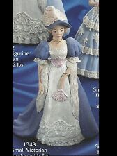 Ceramic Bisque Victorian Figurine with Fan, U Paint