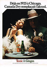 PUBLICITE ADVERTISING 014   1974   CANADA DRY   soda  TONIC & GINGER