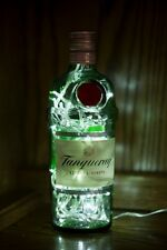 Upcycled Modern Cool Tanqueray Gin Bottle Lamp Light 70cl - by iluvlamp
