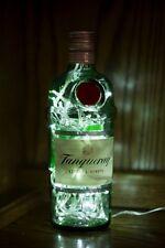 Upcycled Moderno Cool Tanqueray Gin Botella Lámpara-Rara 1 Litro-por iluvlamp