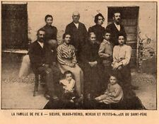 IMAGE 1903 PRINT ITALIE RIESE PIO X PIE X  FAMILLE FAMILLY