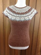 Banana Republic Short Sleeve Alpaca Wool Blend Sweater ~Size Small