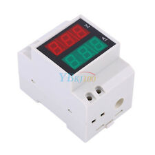 AC80-300V Digital AC DIN RAIL 99.9A LED Voltage Ammeter Voltmeter Current Meter